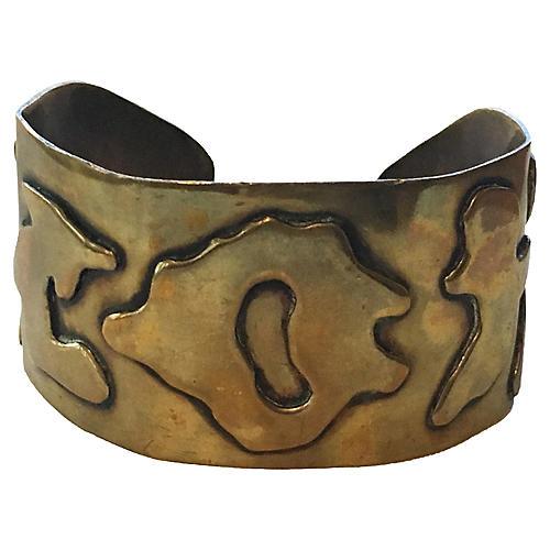 Brass Brutalist Cuff