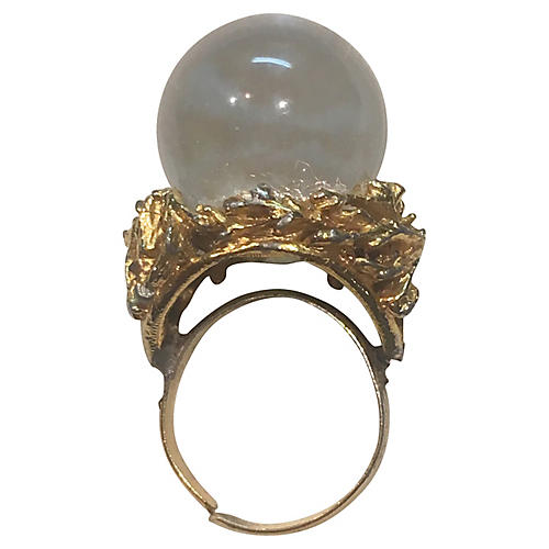 1960s Lucite Ball Ring