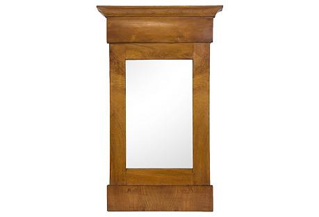 Biedermeier Walnut Mirror