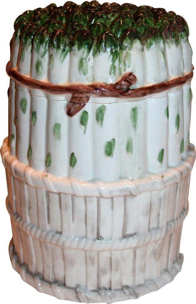 Italian Majolica Asparagus Tureen