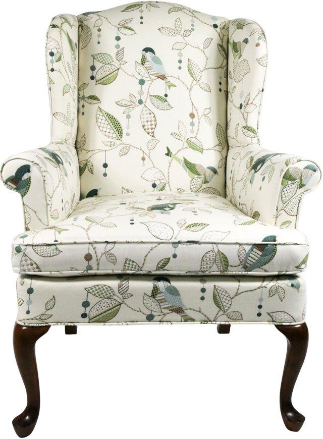 Calico Morning Bird Armchair
