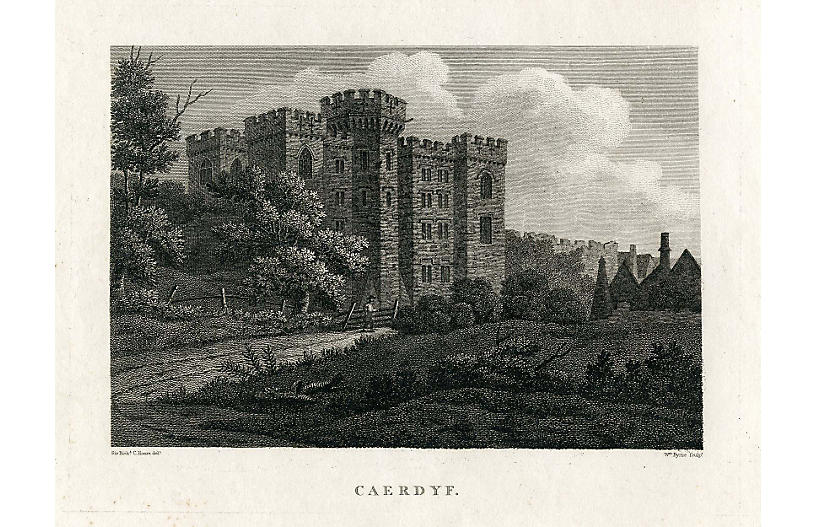 Castles of Wales - Cardiff, 1806
