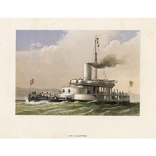 Royal Navy Ships - HMS Glatton, 1872