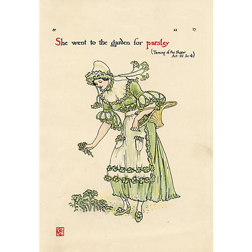 Shakespeare Parsley Print