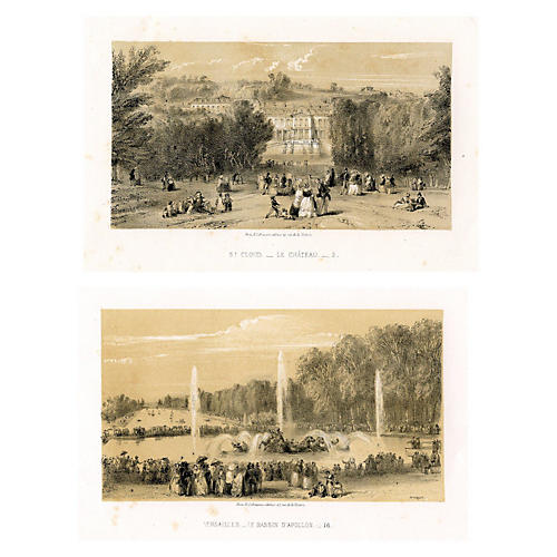 Paris to Versailles Scenery, Pair