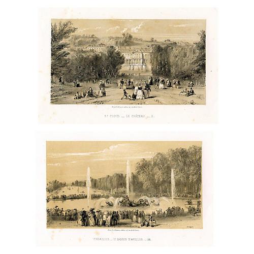 Paris to Versailles Scenery, Pair