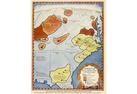 American Tobacco Map, 1931