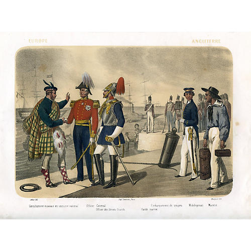 English Naval Uniforms, 1858