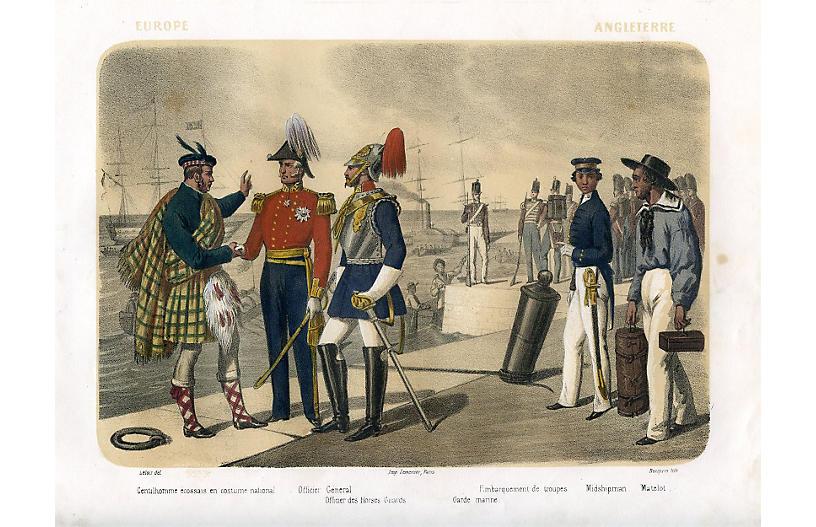 English Naval Uniforms, 1858
