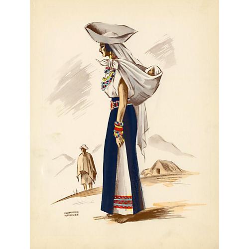 Ecuadorian Costume Print, 1941