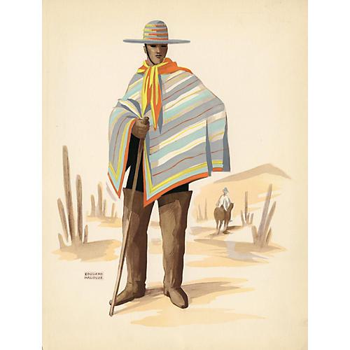 Chilean Costume Print, 1941