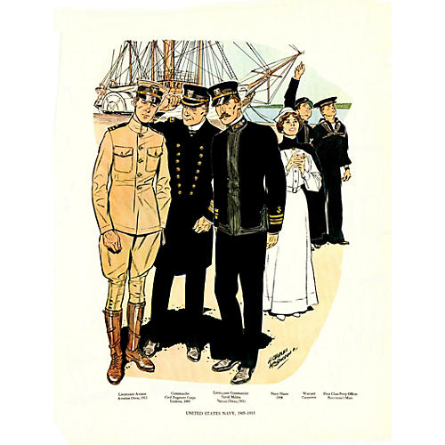 United States Navy Uniforms, 1905-1913