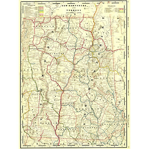 Vermont & New Hampshire Railroad Map