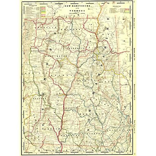 Vermont & New Hampshire Railroad Map