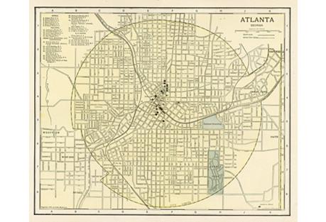 Atlanta Map, 1902