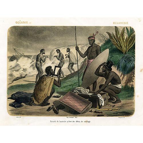 Pacific Islands Shipwreck, 1858