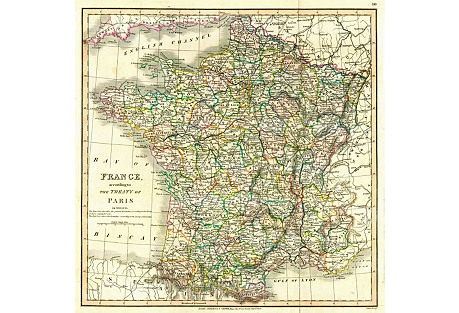 Treaty of Paris Map, 1824