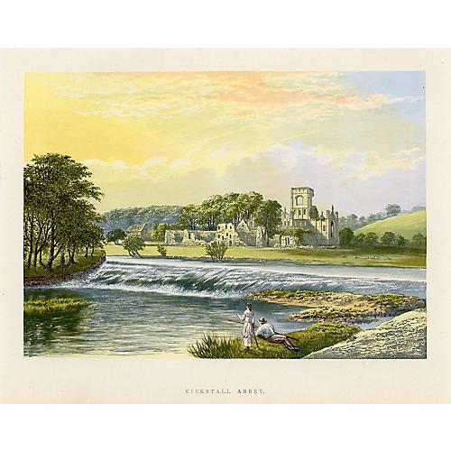 Kirkstall Abbey Print
