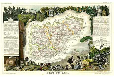 French Regional Map, 1856