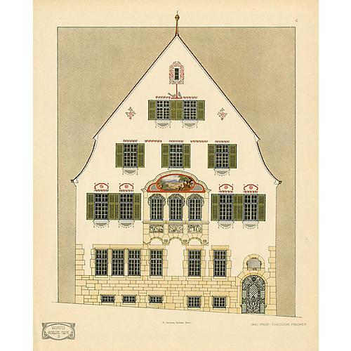 Art Nouveau Architecture Print