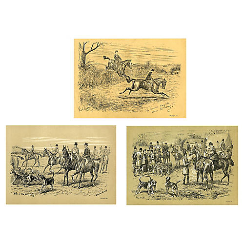 British Equestrian Prints, S/3