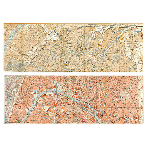 1920s Plan of Paris, Pair