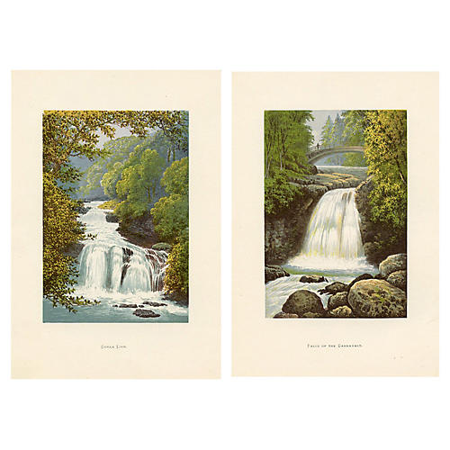 Scottish Waterfalls, Pair