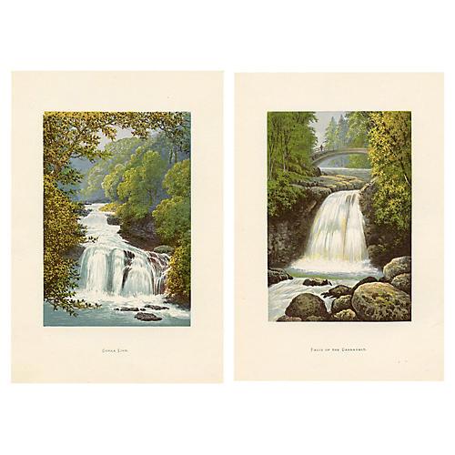 Scottish Waterfalls, Pair