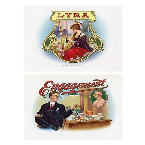 S/2 Cigar Box Prints, C.1900