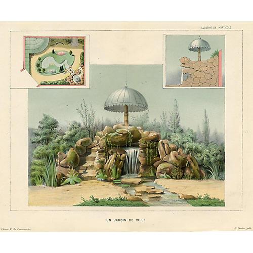 Design for a European City Garden, 1882