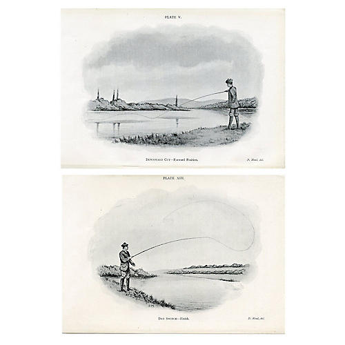 1902 How to Fly Fish Prints, S/2