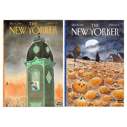 Addams New Yorker Halloween Covers, S/2