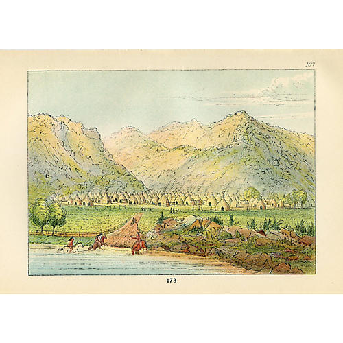 Comanchee Village by the Red River