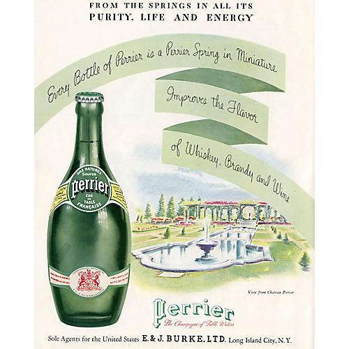 Vintage Perrier Advertisement from 1934