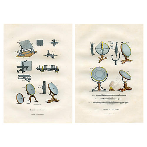 19th-C. Scientific Prints, S/2