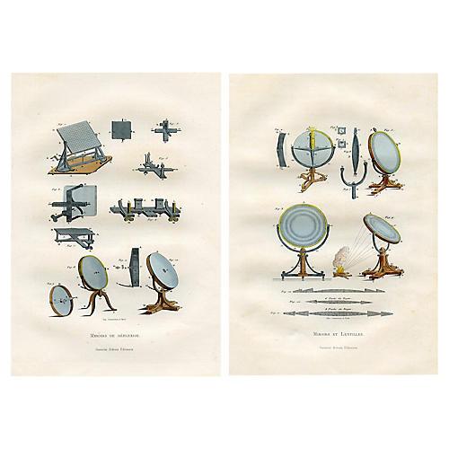 19th-C. Scientific Prints, S/2