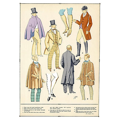 French Men's Fashions from the 19th-C.