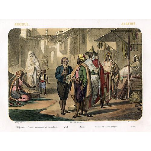 Street Scene in Algeria, 1858