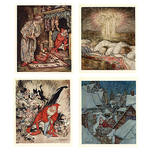 Night Before Christmas by Rackham, S/4