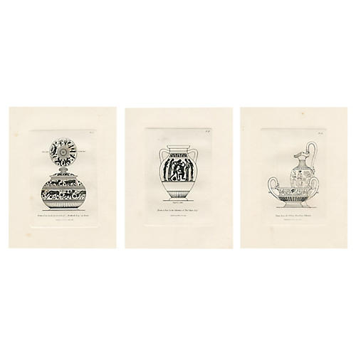 1814 Vase Prints, S/3
