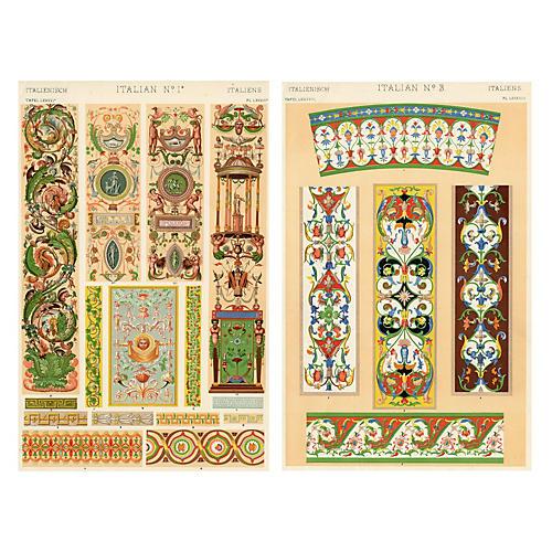 Italian Decorative Designs, Pair
