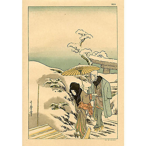 Embarking by Kitagawa Utamaro