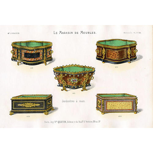 French Planters Print, C. 1860
