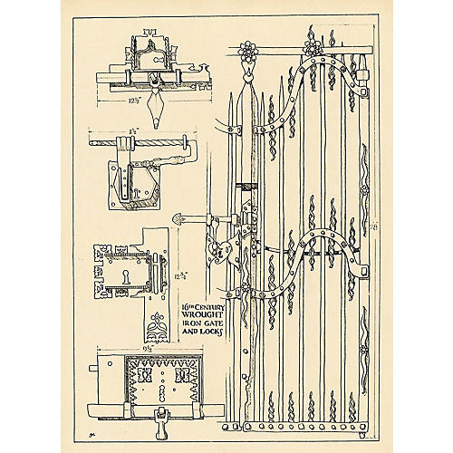16th-C. French Wrought Iron Gates