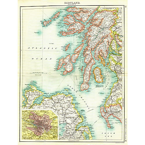 Map of Scotland, 1900