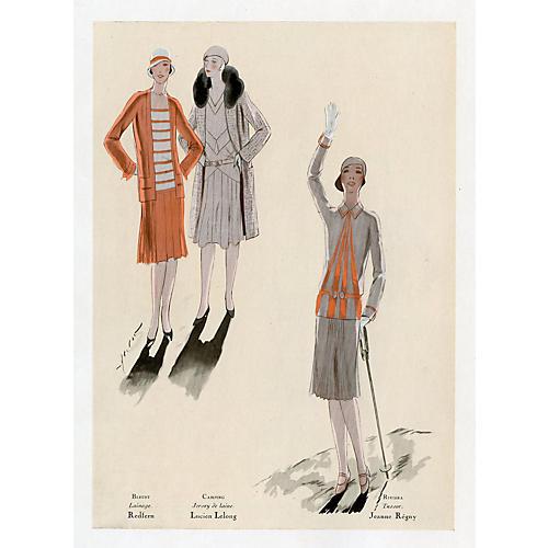 French Art Deco Fashions, 1929
