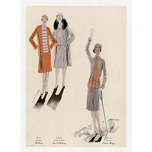 French Art Deco Fashions, 1929