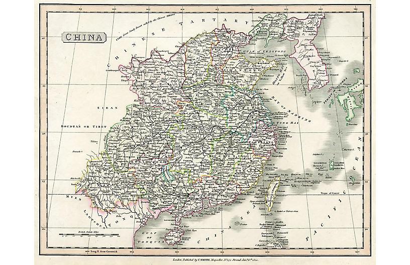 Map of China, 1824