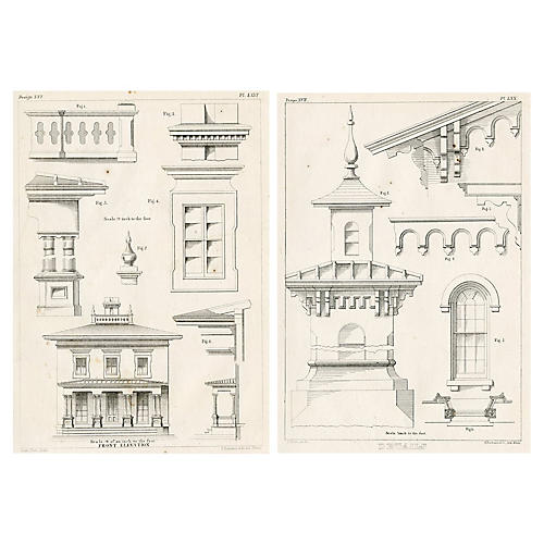 American Architecture Prints, Pair