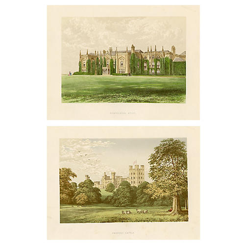 English Castles and Abbeys, Pair